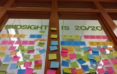 Post-It Notes at the Ross Pendergraft Library