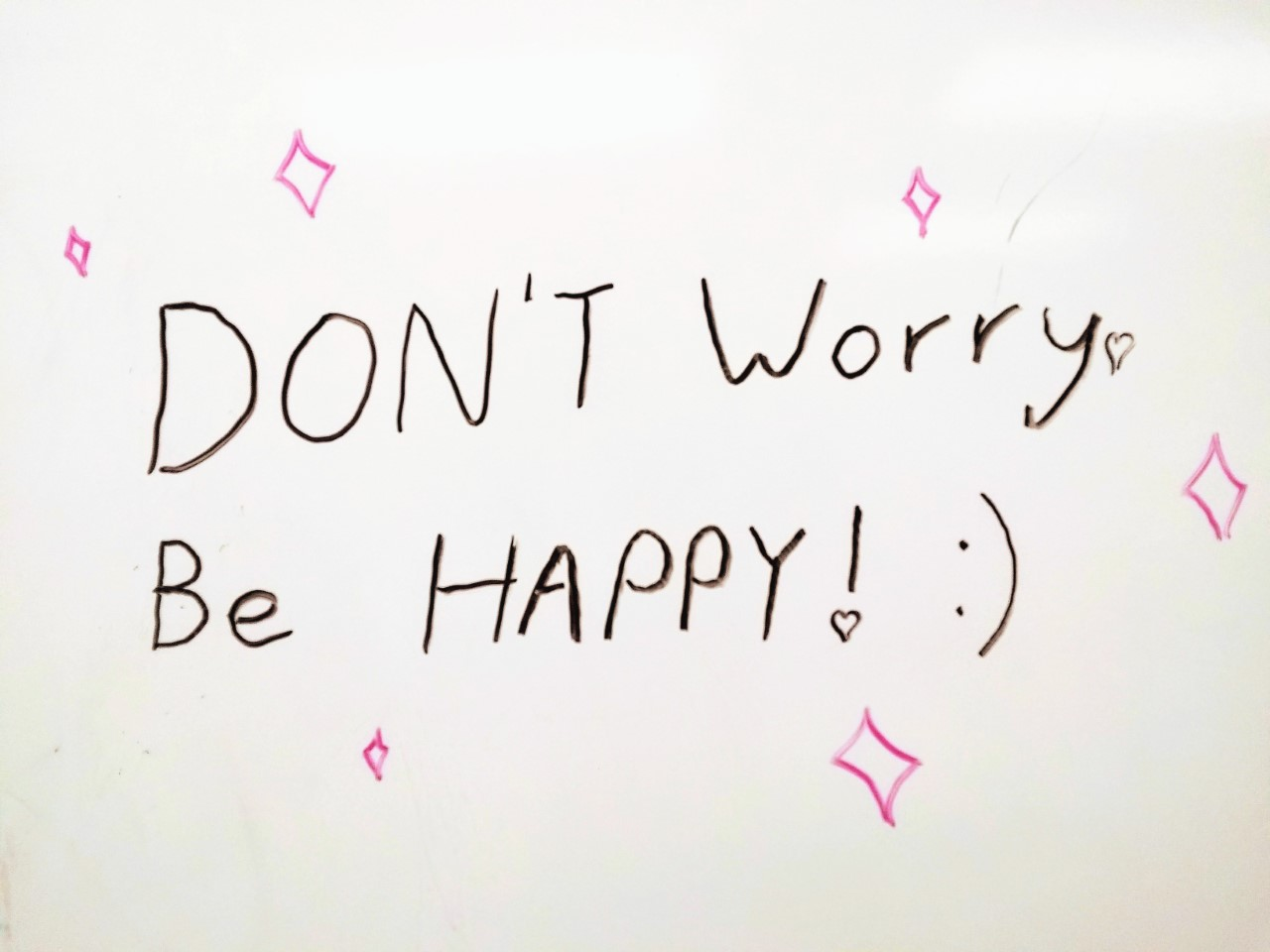 DON'T Worry. Be HAPPY! :)